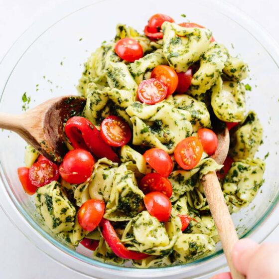 Salad with ortellini